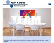 Website John Hinrich Cordes -Sanitärinstallation-