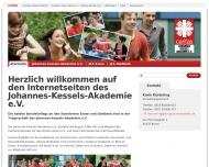 Bild Webseite Johannes Kessels Akademie Essen
