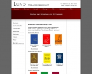 Bild Webseite LUND Verlagsgesellschaft Köln