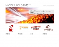 Bild Webseite Magdeburg Events Magdeburg