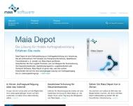 Bild Webseite Maia Software Berlin