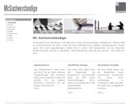 Bild Webseite McSachverständige Berlin