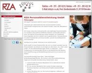 Bild Webseite RZA Personaldienstleistung Dresden