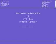 Bild Webseite EYE + EAR Stindt Berlin