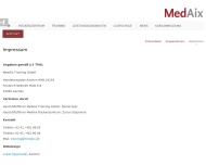 Bild Webseite MedAix Laurensberg Aachen