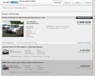Bild Webseite Fahrzeugbörse Brück Inhaber Thomas Henrich Köln