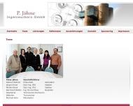 Website P.Jähne Ingenieurbüro