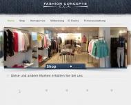 Bild Webseite Fashion Concepts C.C.A. Hamburg