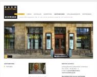 Website Raumausstattung Schwarz