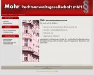 Bild Webseite Mohr Rechtsanwaltsgesellschaft Nürnberg