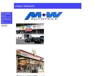 Bild Webseite M + W Autoteile Service Dortmund