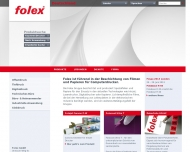 Bild Webseite Folex Coating Köln