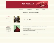Bild Webseite for fashion W&W Forst (Lausitz)