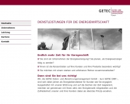 Bild Webseite GETEC Daten- und Abrechnungsmanagement Magdeburg