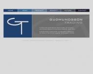 Bild Webseite Gudmundsson Trading Hamburg