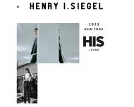 Bild Webseite H.I.S Textil Hamburg