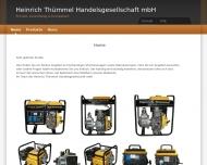 Bild Webseite Heinrich Thümmel Handelsgesellschaft Hamburg