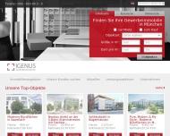 Bild Webseite IGENUS Immobilien München
