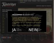 Website Köstritzer Schwarzbierbrauerei