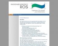 Ingenieurb?ro ROS - Ingenieur f?r Wasser und Infrastruktur - Home