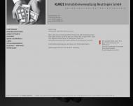 Bild Webseite KUNZE Immobilienverwaltung Reutlingen Reutlingen