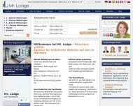 Bild Webseite Mr. Lodge München