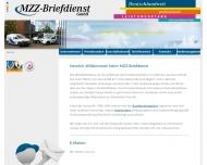 Bild Webseite MZZ-Briefdienst Halle
