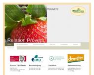 Bild Webseite Miklos Food-Service Hamburg