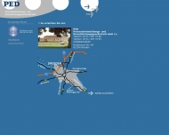 Bild Webseite PED Personalentwicklung  und Dienstleistungsgesellschaft Dresden