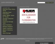 Bild Webseite PEDO Edelstahl Düsseldorf