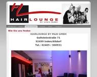 Bild Webseite Hairlounge by m & n Inden