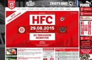 Bild Webseite Hallescher Fußballclub Halle
