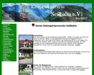Website Kleingartenverein Seilbahn