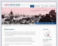 Bild Webseite hanse optima Hamburg