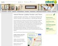Bild Webseite Lüdeke Fenster und Türen Hamburg