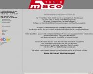 Bild Webseite MACO TOOLS Wuppertal
