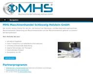 Bild Webseite MHS Maschinenhandel Schleswig Holstein Hamburg