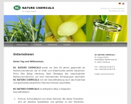 Bild Webseite NC NATURE CHEMICALS DR. KRUPPA Hamburg