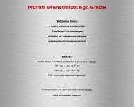 Bild Webseite Murati Dienstleistung Berlin
