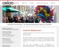 Bild Webseite ORION Promotions- & Veranstaltung Service Düsseldorf