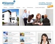 Bild Webseite Klüsener Immobilien- und Versicherungsmakler Köln