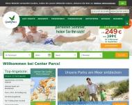 Bild Webseite Center Parcs Bungalowpark Nordseeküste Köln