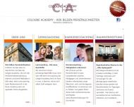 Bild Webseite Cologne Academy Privates Lernkolleg Köln