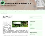 Bild Webseite Reitclub Grunewald Berlin