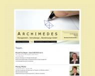 Website ARCHIMEDES Management-, Verwaltung , Abrechnungs