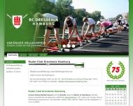 Bild Webseite Ruder-Club DRESDENIA e. V. Hamburg