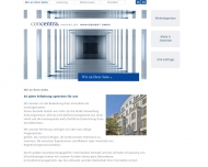 Bild Webseite Concentra Immobilien Managementgesellschaft Berlin