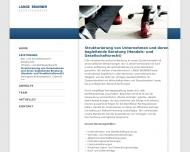 Website Partnerschaft der Rechtsanwälte LANGE BRUNNER