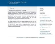 Bild Webseite ConPart Unternehmensverwaltungsgesellschaft Köln