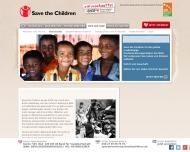 Website Save the Children Deutschland